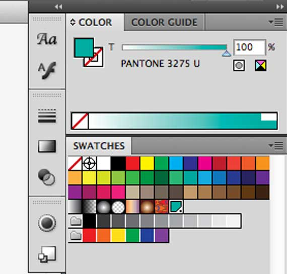 Illustrator screen shot of swatch panel
