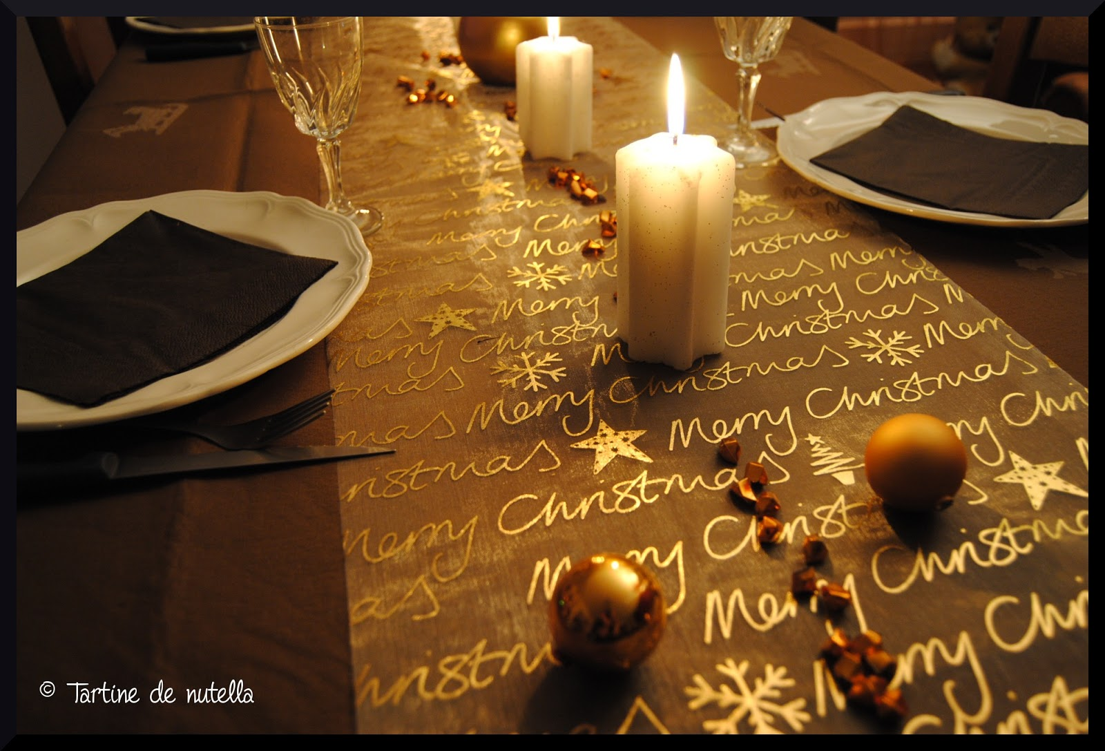 D coration de la table de no l food addict - Decoration de la table de noel ...