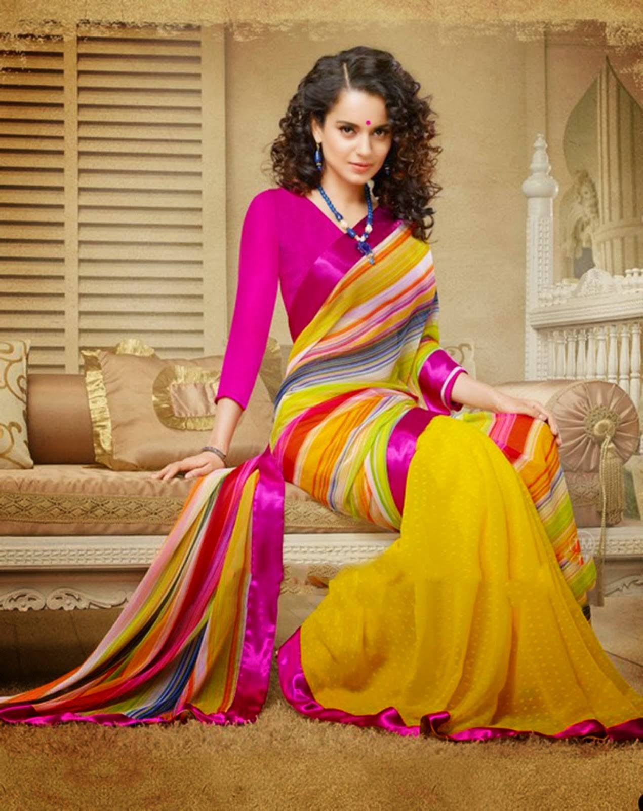Kangna Ranaut hot saree photo shoot in saree