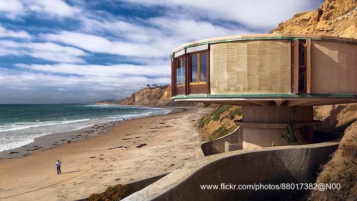 Casa de playa brutalista en California Estados Unidos