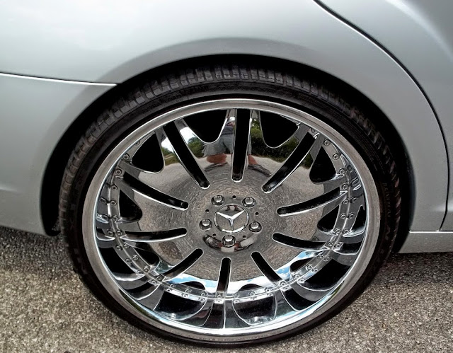 mercedes chrome rims