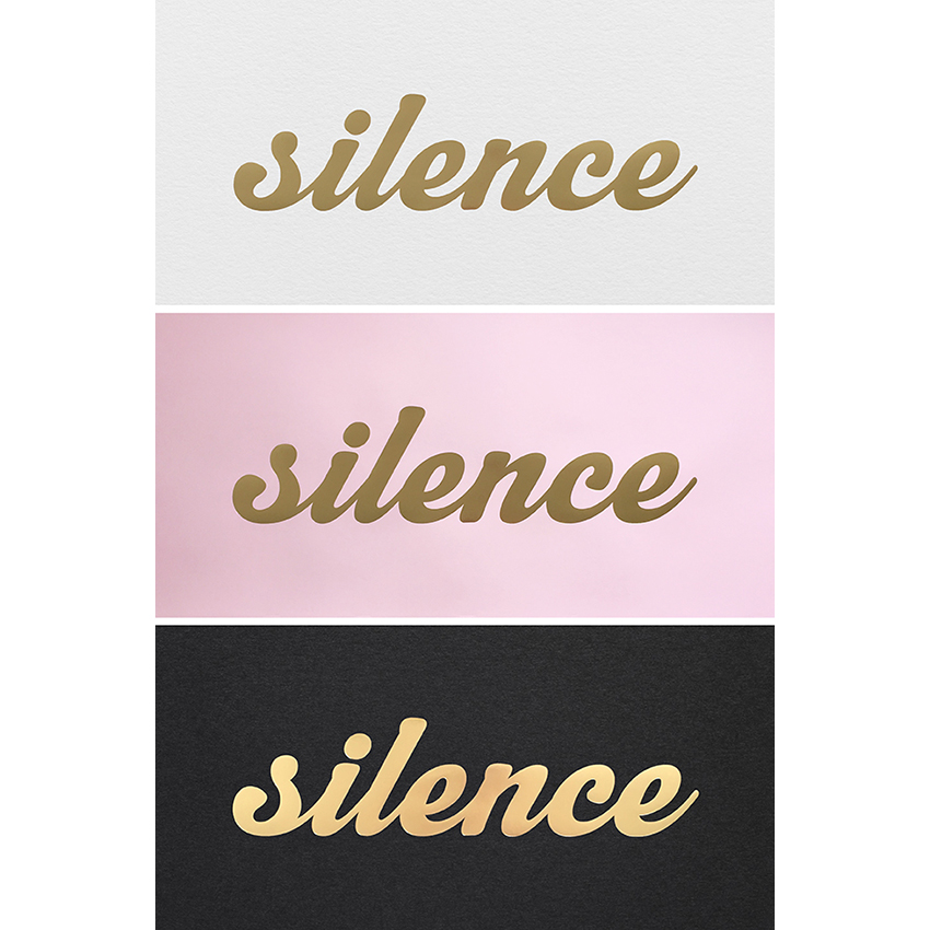 SHOP SILENCE IS GOLDEN PRINTS