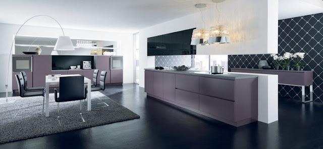 Violet cuisine - Meuble cuisine violet ...