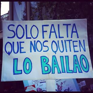 Encertada pancarta d'una de les manifestacions del 19 de juliol de 2012. Foto: Carme Sànchez