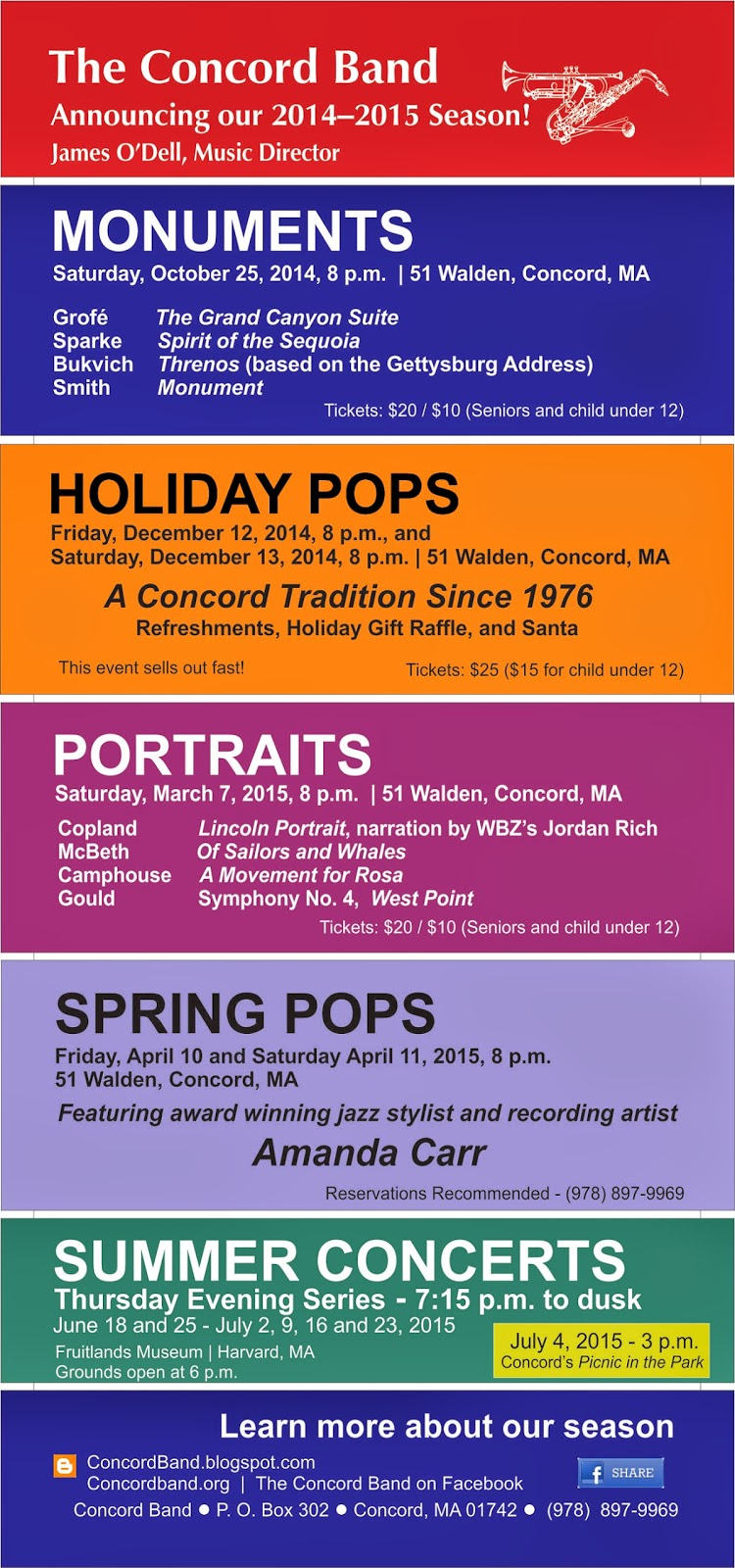 2014–15 Concert Season Flyer