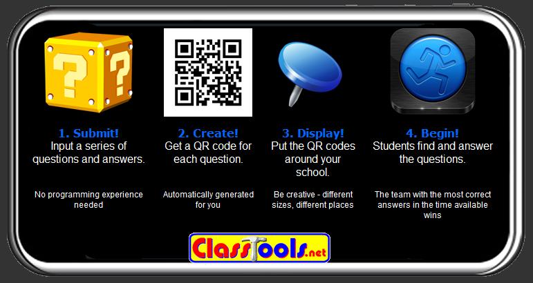 Free Technology For Teachers Qr Code Treasure Hunt Generator