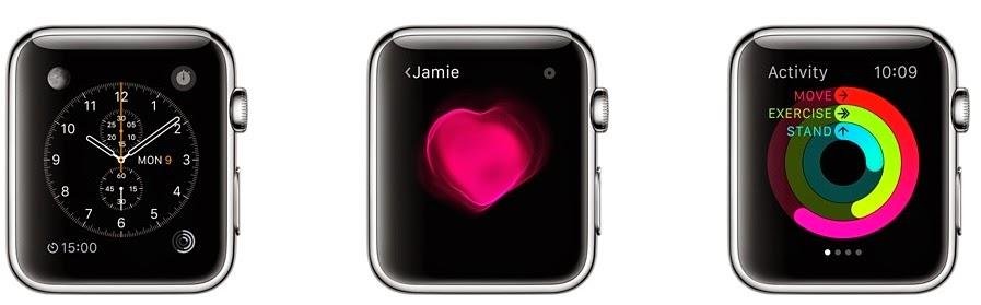 διάφορες λειτουργίες του ρολογιού της Apple