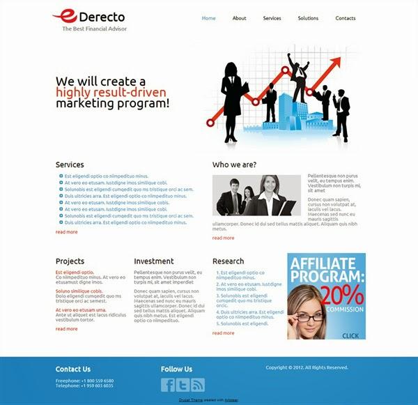 eDerecto - Free Drupal Theme