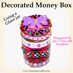 glass jar money box