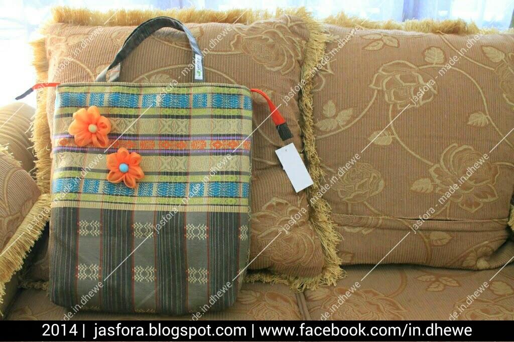 tas etnik cantik unik dari kain songket tenun mesin