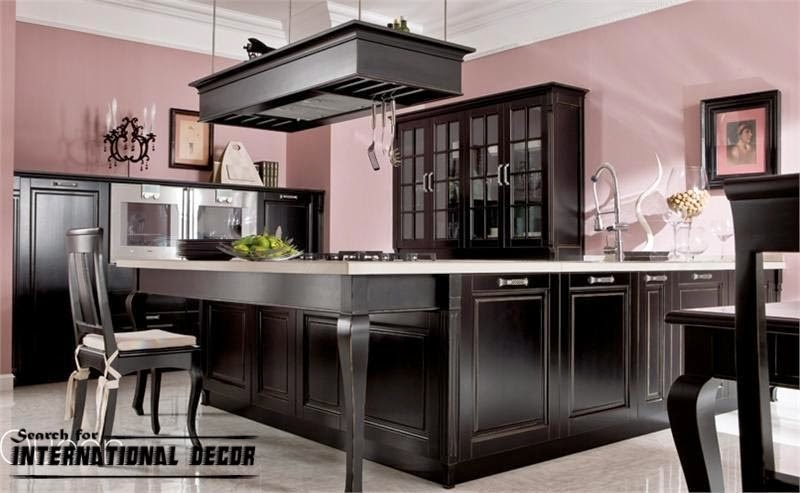Italian kitchen, Italian cuisine,black kitchen, modern kitchens