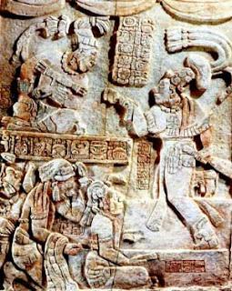 Mayas - Dintel Yaxchilán - HistoriaDeLasCivilizaciones.com