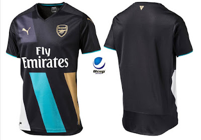 Jersey Arsenal 3rd 2015-2016 Depan Belakang