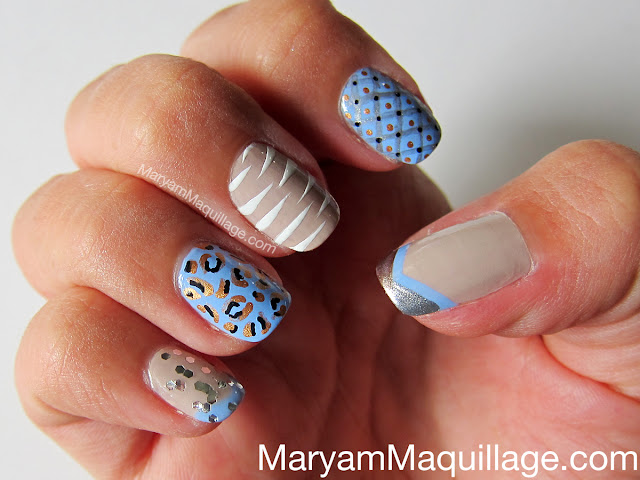 Maryam Maquillage: Mixed Patterns NailArt