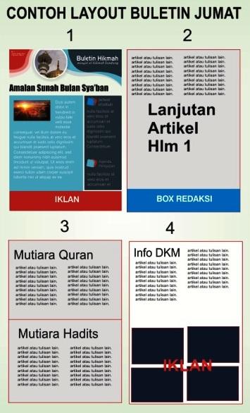 contoh layout buletin masjid