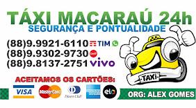 TÁXI MACARAÚ 24H - SEGURANÇA E PONTUALIDADE