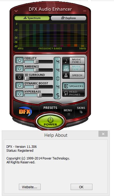 DFX Audio Enhancer screenshots