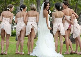 sexy asses at a wedding
