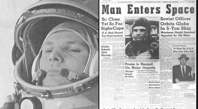 HARI INI 1961: Manusia Pertama ke Luar Angkasa Tercatat dalam Sejarah