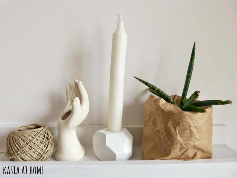 ribba, świecznik z gliny, DIY