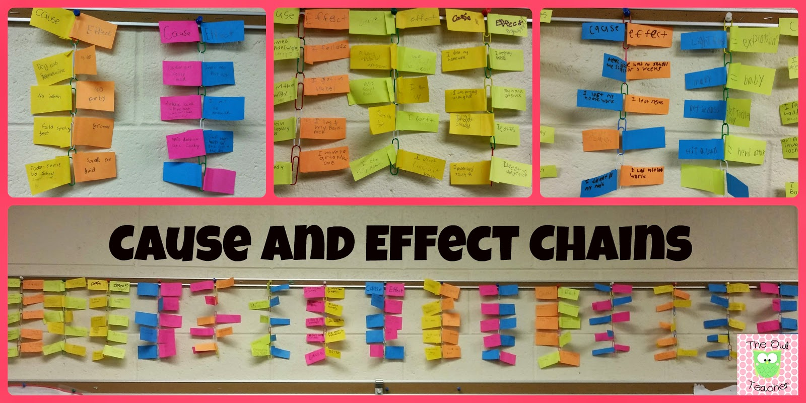 cause and effect paper chain