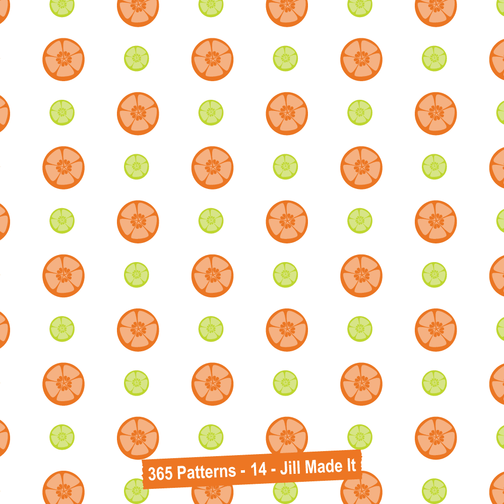 365 Patterns:  Happy Citrus