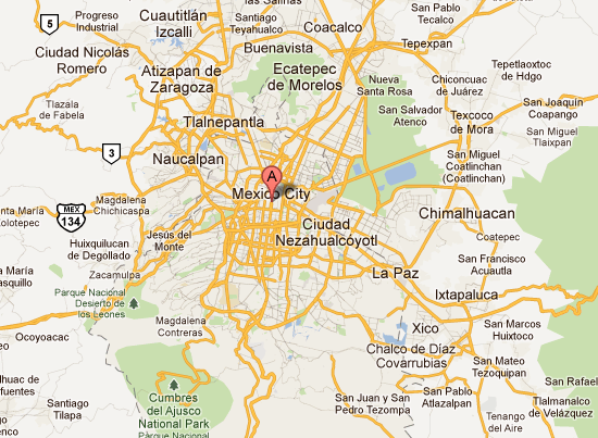 Gabriel Orozco: Map of Mexico City on