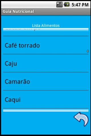 Guia Nutricional app android