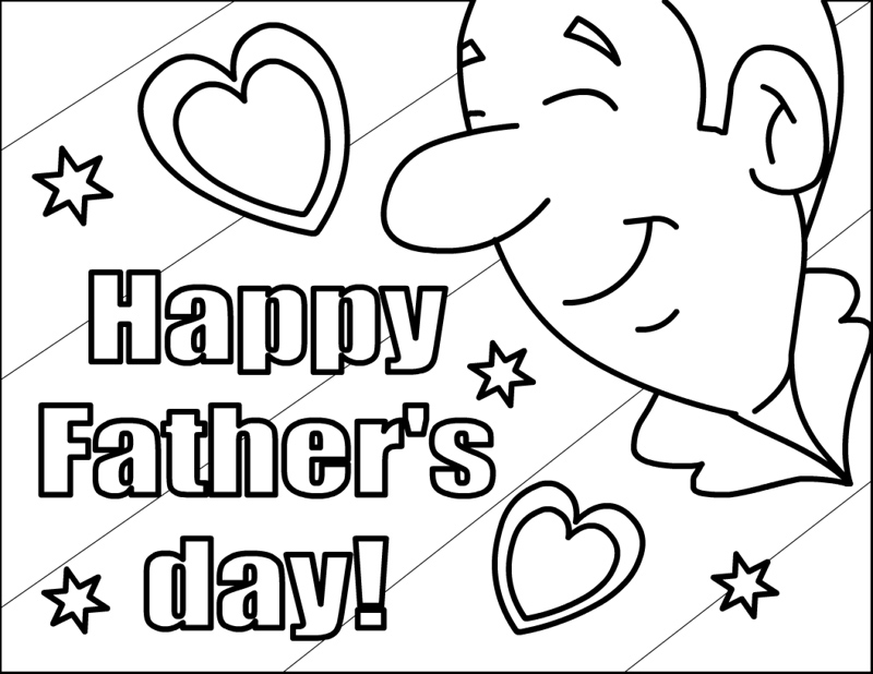 free coloring pages of dads - photo#31