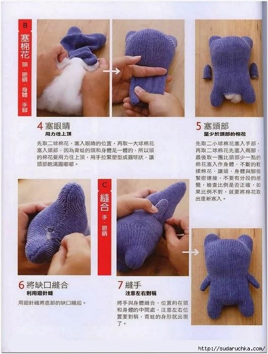 Инструкция как сделать мягкую игрушку на руку