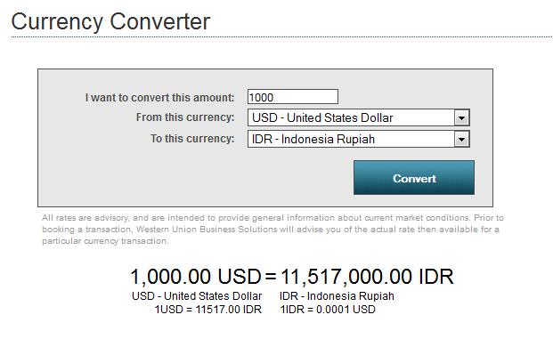 Cara Cek Rate Kurs Dollar Western Union Hari Ini