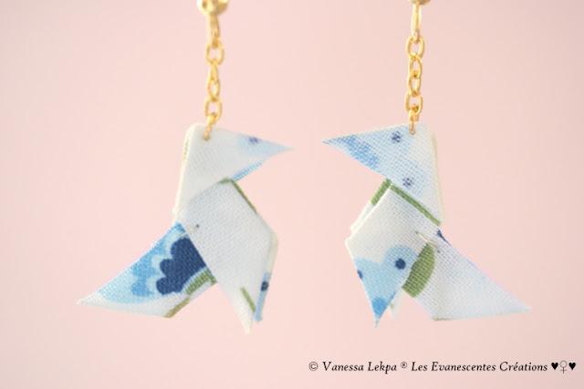 bijoux oiseau tissu