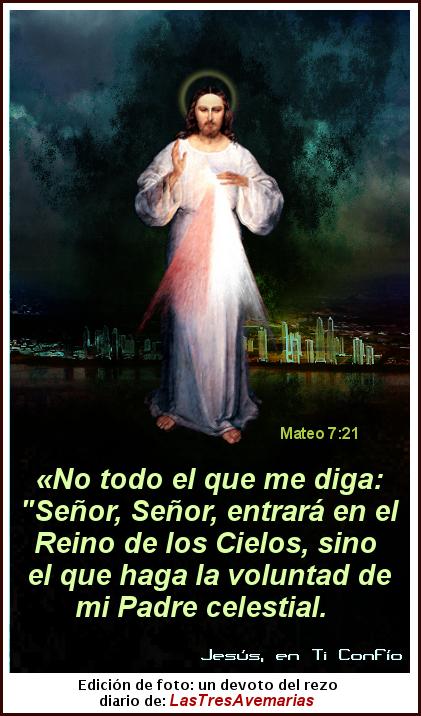 jesus (divina misericordia y text de mateo 7:21 de la biblia)