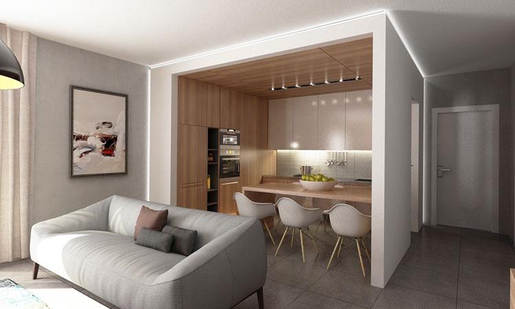 Modern Interieur Warm : Modern studio apartment warm interior be a modern