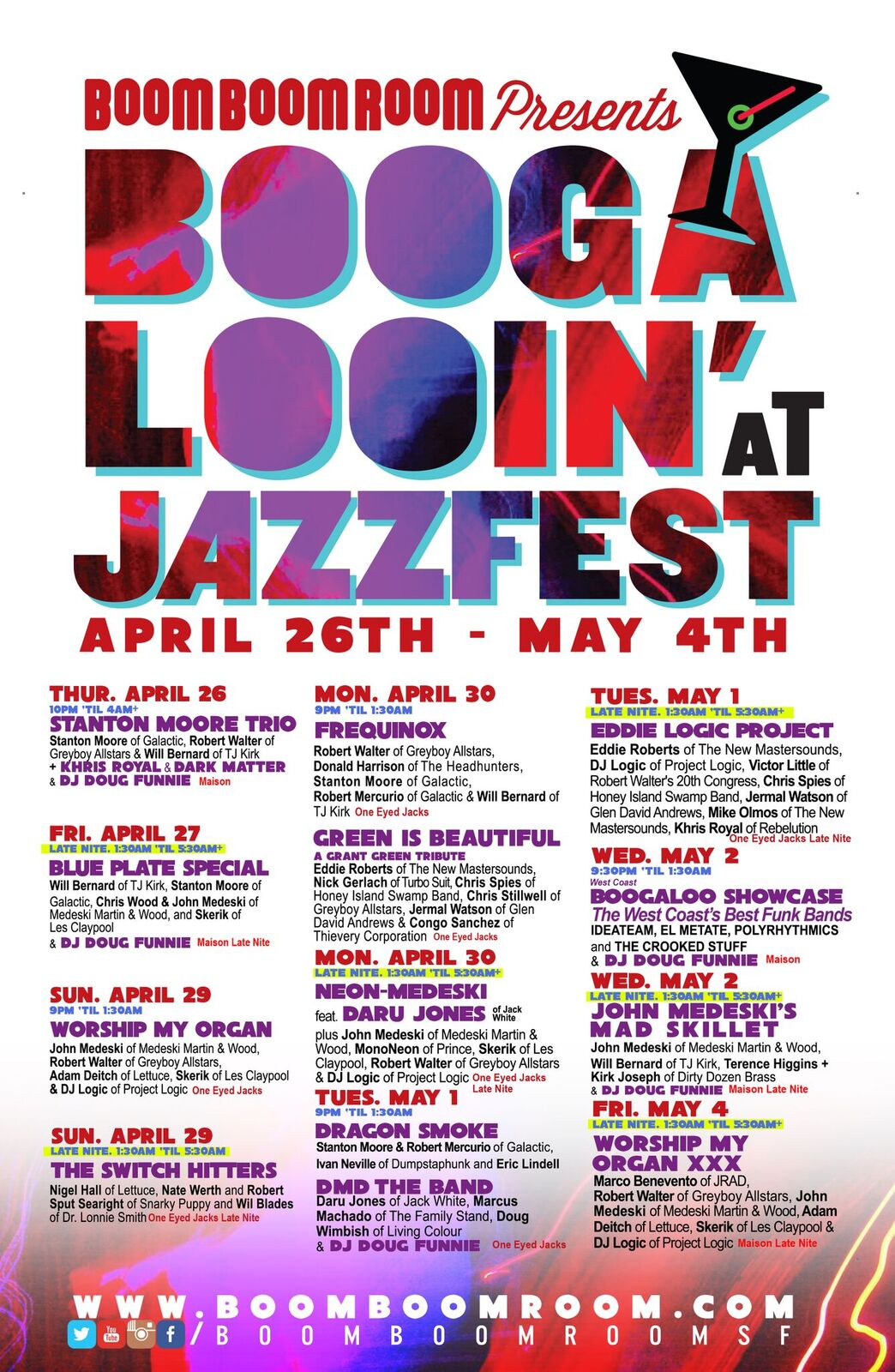 4/26-5/4: BBRP: BOOGALOOIN AT JAZZ FEST