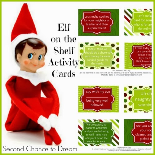 Free Printable Elf on the Shelf Activity Cards with a twist! - Second ...