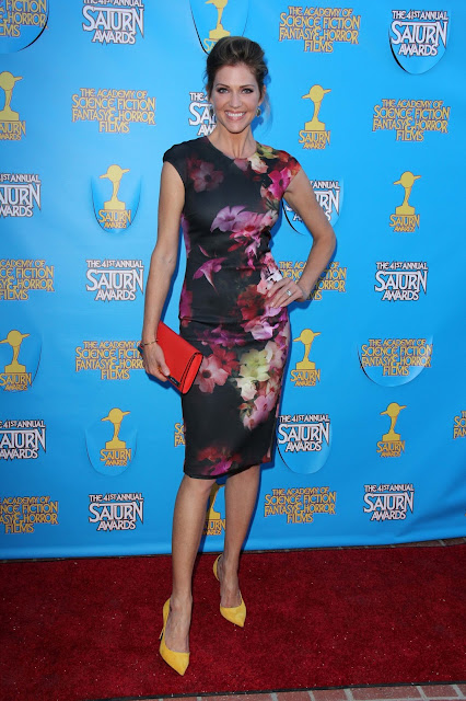 Actress, Fashion Model @ Tricia Helfer - The 41st Annual Saturn Awards in Burbank
