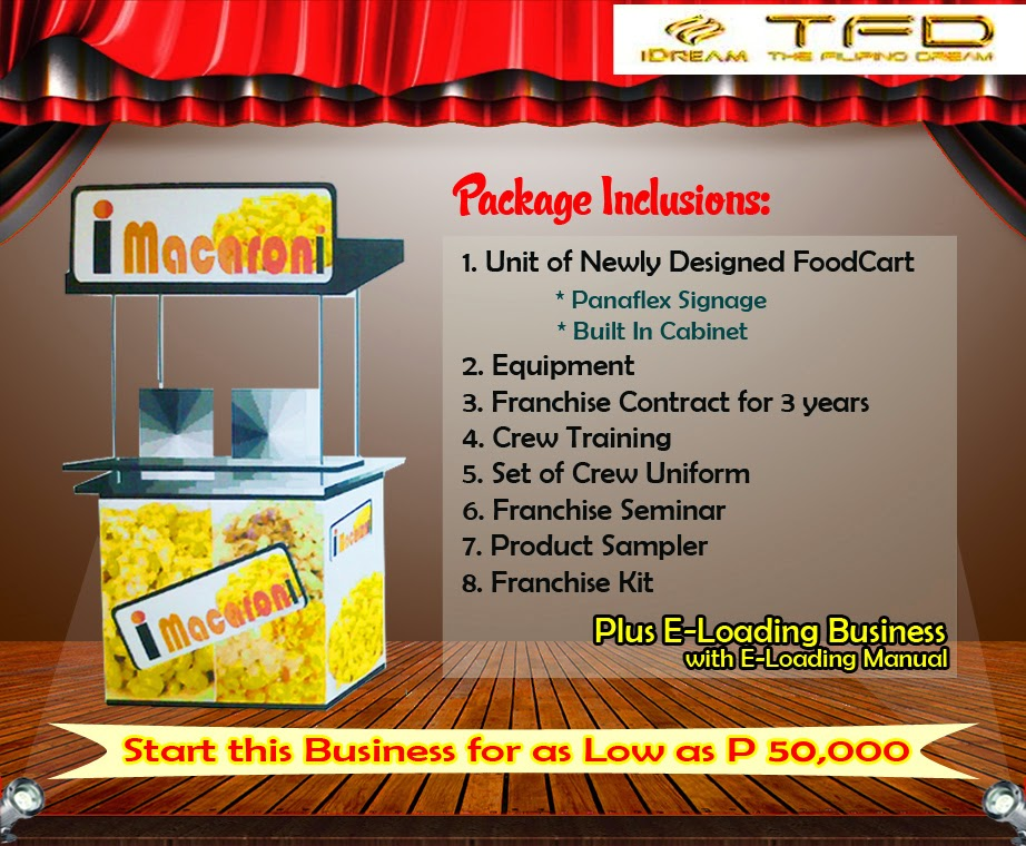 Foodcart For Franchise - A Macaroni Food Concept Offered in the Philippines.