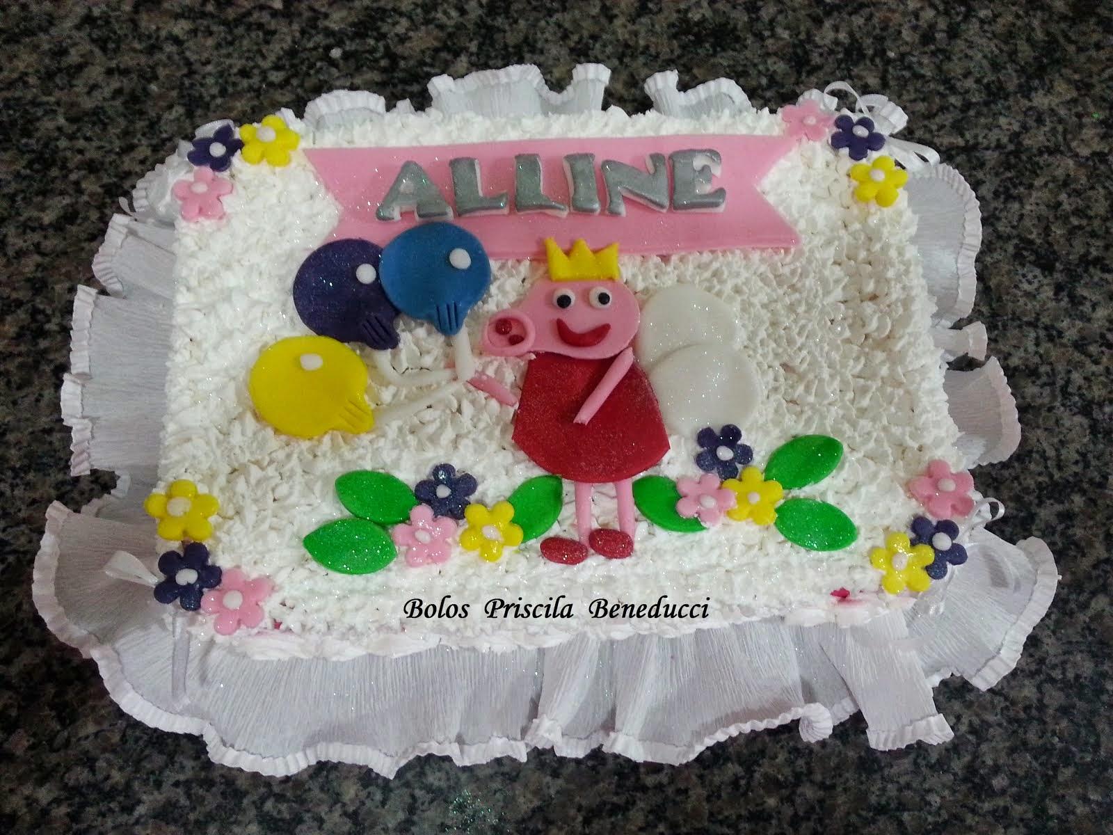 Bolo Peppa Pig - Alline