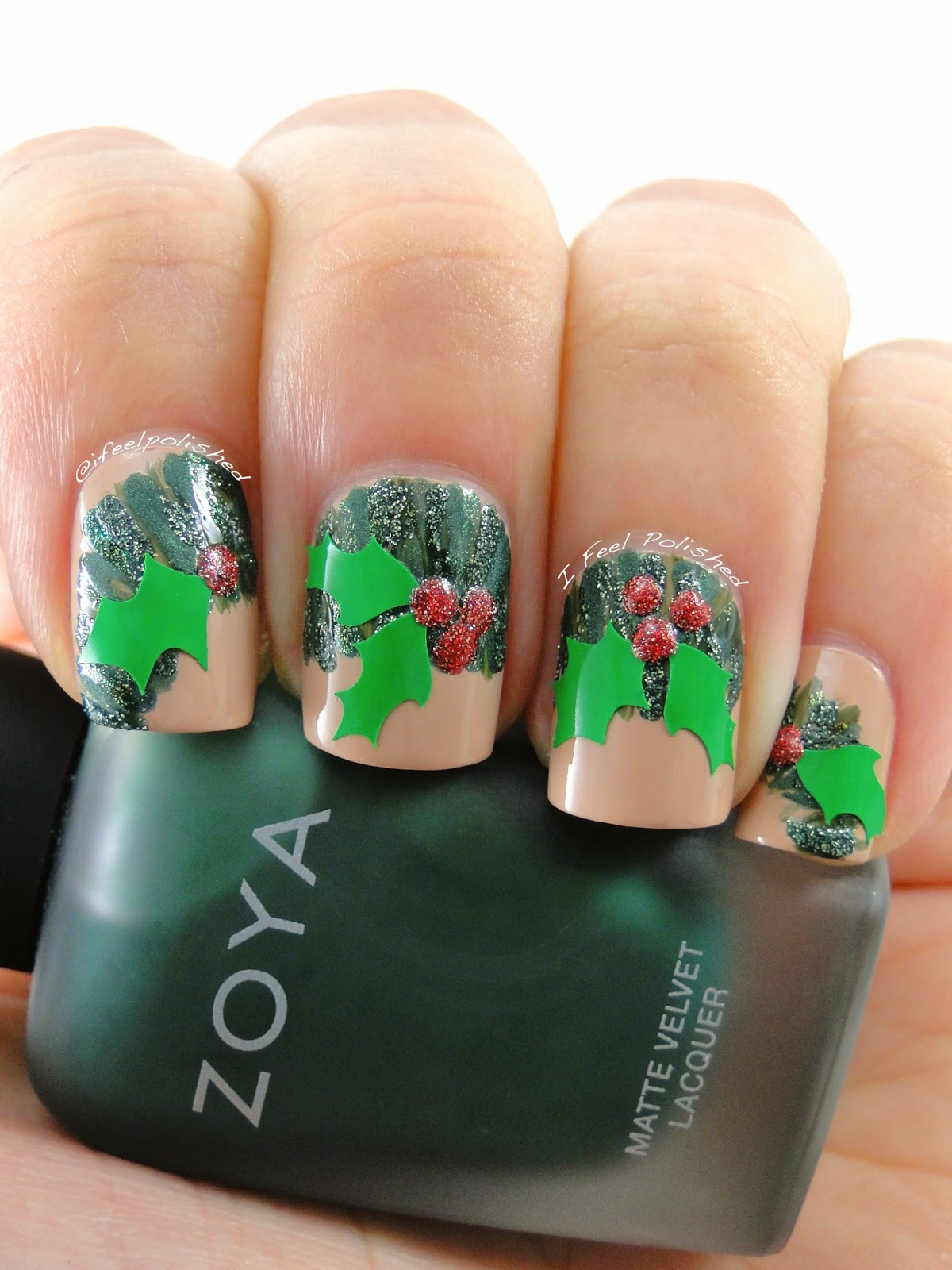 Wreath Nail Art