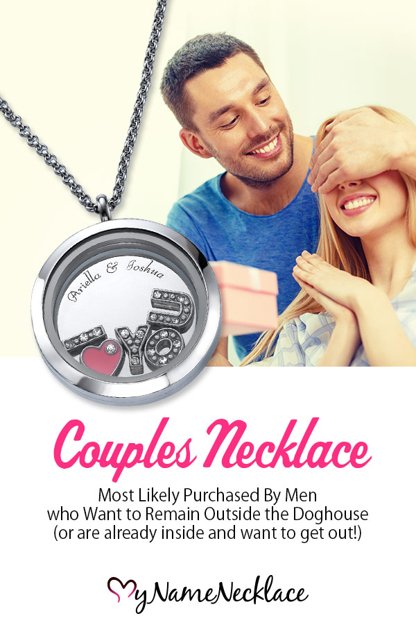 Couples Necklace Most Likely Purchased by Men