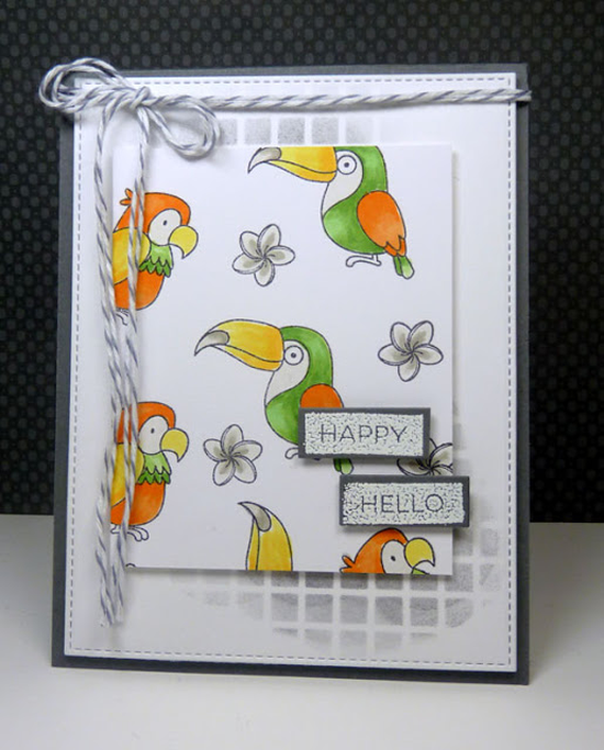 Label Maker Sentiments and Birdie Brown Polynesian Paradise stamp sets - Vickie Zimmer