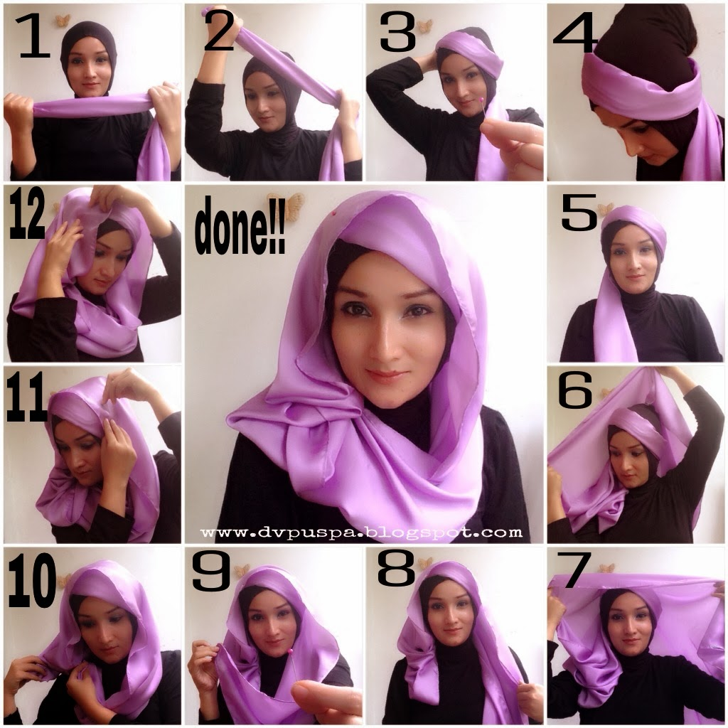 Little Things From My Closet Hijab Style With Satin