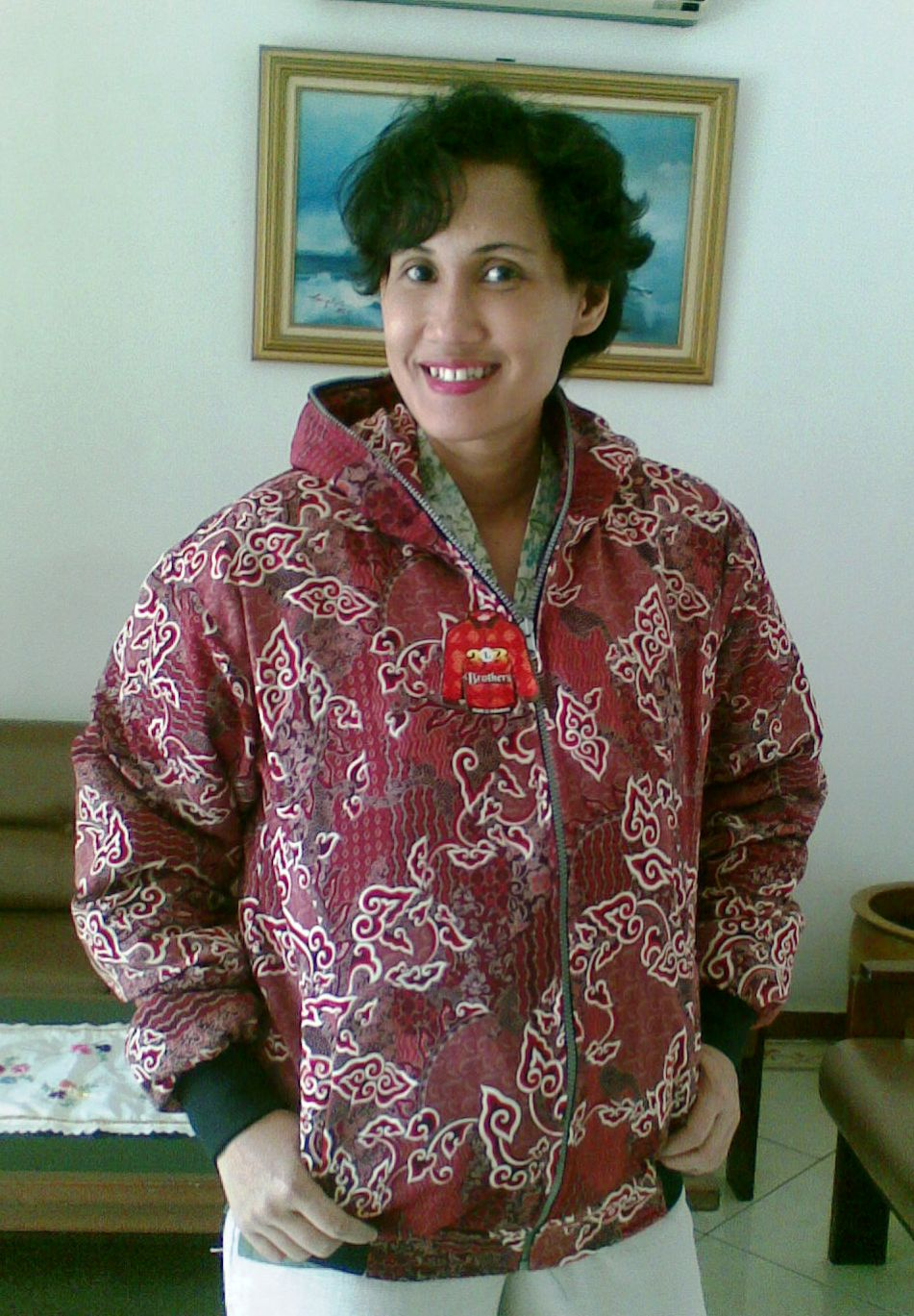 Dnd Onlineshop Jaket Batik Mega Mendung Merah Fanta