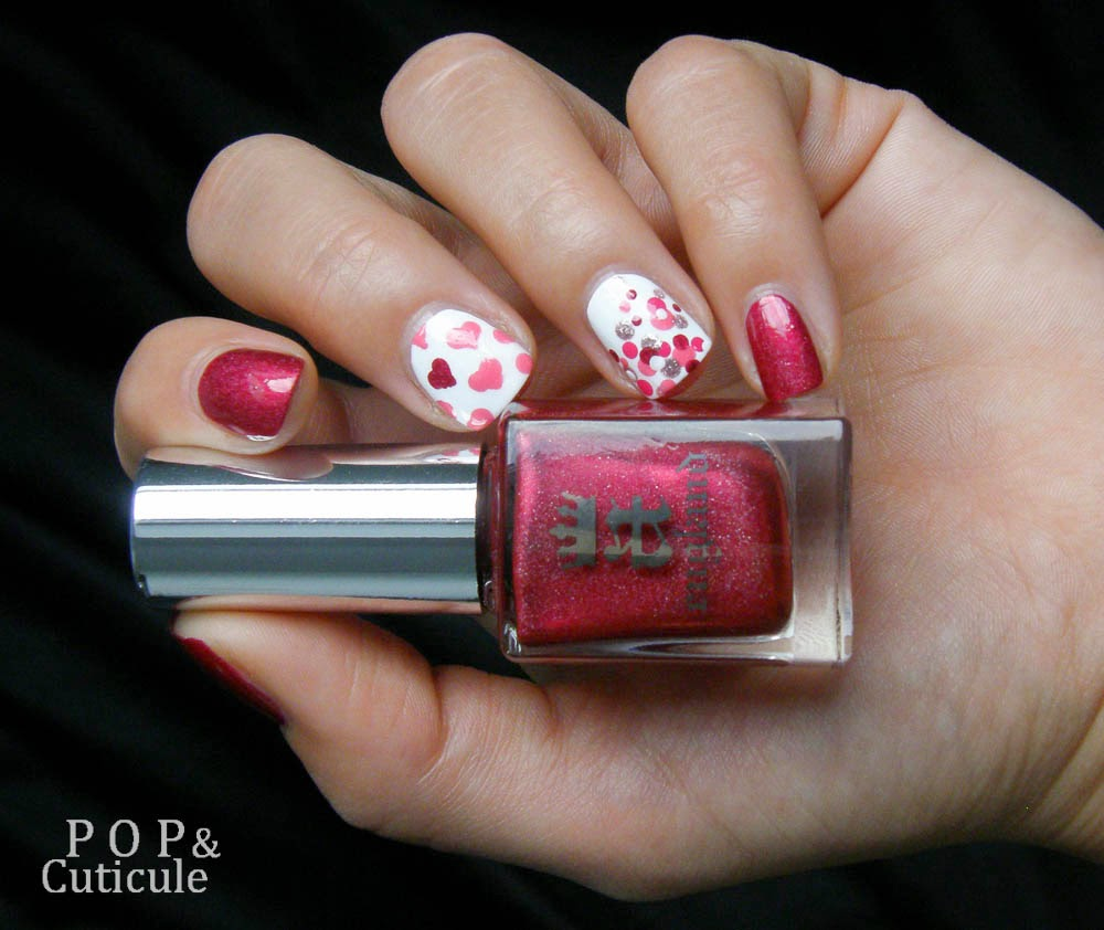 Pop'n Cuticule Rose Bower A england Octobre Rose Nailstorming