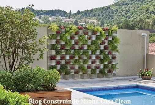 fotos jardim horizontal : fotos jardim horizontal:Construindo Minha Casa Clean: 22 Jardins Verticais Maravilhosos! Veja