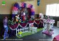 Tema Monster High para festa infantil de meninas - decoração para mesa de aniversário infantil