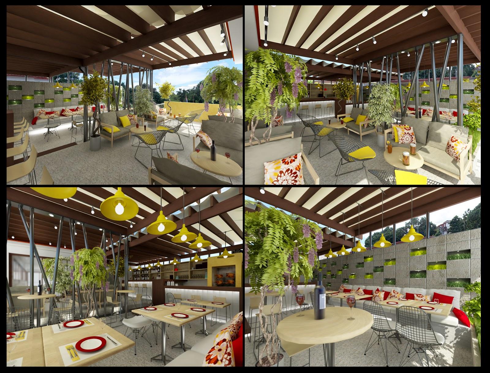 Dag arquitectos restaurante montebarreto for Restaurantes modernos exterior