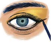sombra de olhos dourada