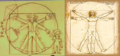 Człowiek witruwiański, Leonardo da Vinci